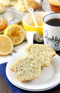 Bakery Style Lemon Poppy Seed Muffins Recipe from A Kitchen Addiction