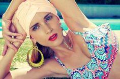 The beautiful Marija, wearing LoveWaterLove's Ischia Print, Ruffle Tank top Summer Of Love, Summer Looks, African Swimwear, Photoshoot Inspiration, Summer Collection, Beautiful Outfits, Beachwear, Crochet Earrings, How To Wear