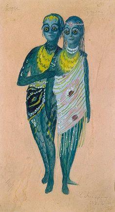 Costume Design for Ballet Sadko by Boris Anisfeld (1879-1973)