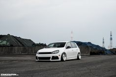 vw stance | Bitchin' Mk5 White Volkswagen Golf GTI | Never Too Low