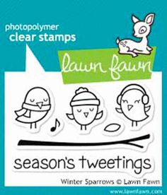 Lawn Fawn - Clear Acrylic Stamps - Winter Sparrows