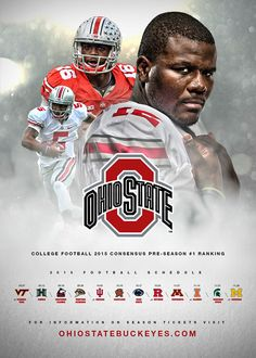 Ohio State - 2015 Football Schedule Poster on Behance