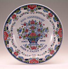 A beautiful silver wedding plate