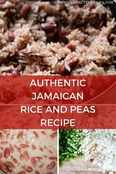 Delicious Authentic Jamaican Rice and Peas Recipe made with coconut milk, allspice, scallions and more! I've tried many recipes but this one is the best hands down! and Drink coconut milk Delicious Authentic Jamaican Rice and Peas Recipe Pea Recipes, Indian Food Recipes, Vegetarian Recipes, Cooking Recipes, Healthy Recipes, Ethnic Recipes, Rice Recipes, Rice And Peas Recipe Easy, Gastronomia