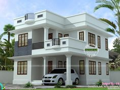mid century modern home exterior paint colors with two storey house front view with small bungalow house design in philippines 2 Storey House Design, Duplex House Design, Simple House Design, House Front Design, Modern House Design, Indian House Plans, My House Plans, Duplex House Plans, Modern House Plans