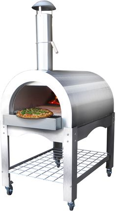 Energetic Brick Outdoor Wood Fired Pizza Oven 100cm Terracotta Supreme Model Chimney Mount Barbecues Barbecuing & Outdoor Heating