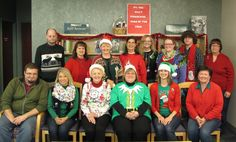 The festive Bellevue University Library Staff!