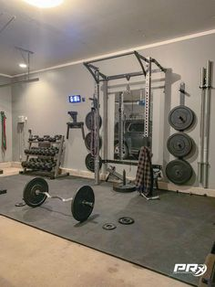At least you don't have employees telling you to put your weights away.Home gyms for the win! gym PRx Performance - Lift Big in Small Spaces (as seen on Shark Tank! Home Made Gym, Diy Home Gym, Home Gym Decor, Best Home Gym, Home Gym Basement, Home Gym Garage, Gym Room At Home, Workout Room Home, Workout Rooms