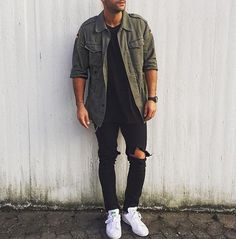 Nice outfit. #black #mensfashion #fashion