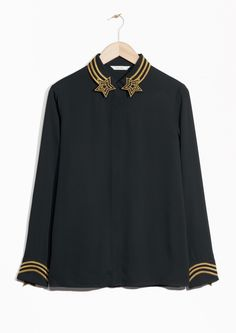 & Other Stories image 1 of Shooting Star Blouse in Black