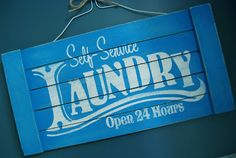 Burton Avenue: Easy DIY Distressed Laundry Sign