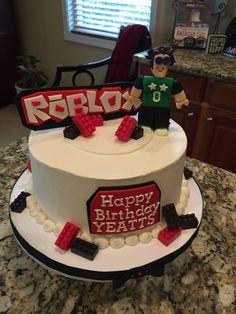 """""""Roblox"""" cake theme. Happy Birthday Yeatts! Roblox Birthday Cake, 6th Birthday Boys, Roblox Cake, 9th Birthday Cake, 9th Birthday Parties, Lego Birthday Party, Happy Birthday, Birthday Ideas, Torta Angry Birds"""