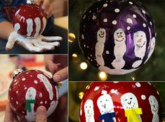 Hand-Printed Ornaments