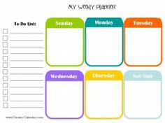 Free Printable Weekly Calendars  Five  Free Versions Of