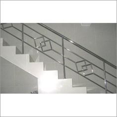 Stainless Steel Balustrades Handrail Systems Stairways Chowdhury ... Steel Grill Design, Steel Railing Design, Staircase Railing Design, Modern Stair Railing, Balcony Railing Design, Hand Railing, Railings, Stainless Steel Stair Railing, Stainless Steel Handrail