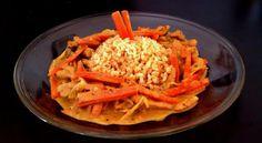 Thai sárga curry csirkével, kókusztejjel és zöldségekkel Wok, Thai Red Curry, Keto, Ethnic Recipes