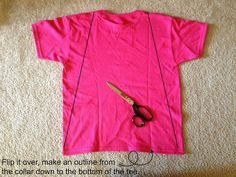 Tutus and Tea Parties: DIY Super Hero Cape | T-Shirt Upcycle