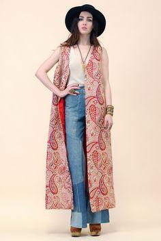 La Boheme Tapestry Maxi Vest