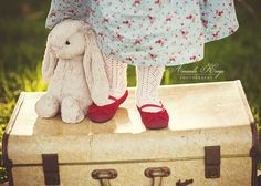 red mary janes and bunny © amanda keeys photography