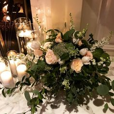 Blush garden roses and white tulips nestled in organic greens make for a stunning floral arrangement. White Tulips, White Flowers, Rose Wedding, Chic Wedding, Cabbage Flowers, Organic Roses, Garden Roses, Lush Green, Gardening Tips