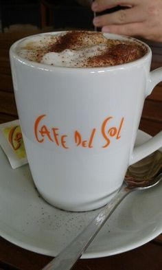 Cappuccino from Cafe del Sol Yummy Kaffee kaffe coffee koffie cafe caffee