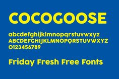 Friday Fresh Free Fonts