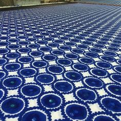 Royal blue moons hand block printed on cotton- in a technique made to have printing look like clamp dying. We love the natural way the dye bleeds and creates organic individual prints. #ecru #handmade #blockprint #artisan #twistme #dipme #dyeme #coming #soon