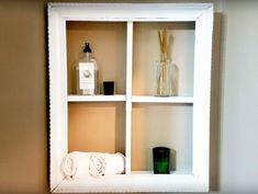 If you're a fan of wooden picture frame upcycles, I've got a great DIY for you! I built a shadow box shelf with an old frame and it looks amazing. It was a real… Old Frames, Antique Frames, Frame Shelf, Diy Frame, Paint Furniture, Furniture Makeover, Shadow Box Shelves, Vintage Hutch, Closet Door Makeover