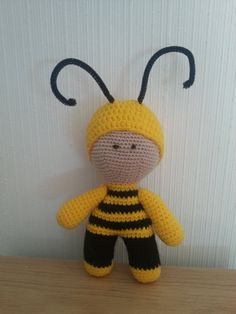 "Handmade Crochet Doll,""BEE"" Stuffed Toy, Gift For Kids, Amigurumi Yo-Yo by Floristo4ka on Etsy"