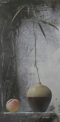 Still Life by Park Chul Hwan, 91 x Acrylic on Panel. Still Life Art, Korean Artist, Art Oil, Fine Art, Park, Watercolors, Flowers, Paintings, Colour