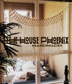 Natural Cream Boho Macrame Curtain Window by TheHousePhoenix