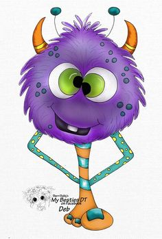 Bestie Monster close-up by Deb Jennings... (pinned from Facebook) Monster Rocks, Felt Monster, Monster Art, Cartoon Monsters, Cute Monsters, Little Monsters, Besties, Doodle Monster, Baby Clip Art