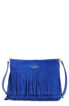 kate spade new york 'sycamore run - cristi' suede fringe crossbody bag available at #Nordstrom