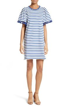 kate spade new york stripe flutter sleeve dress - love the preppy style and the tassels