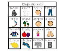 FRENCH READING SOUND BINGO - LES SONS DE LECTURE - TeachersPayTeachers.com