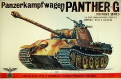 Bandai Scale Panzerkampfwagen V Panther-G Model by MyHillbillyWays on Etsy Plastic Model Kits, Plastic Models, Tank Warfare, Afrika Korps, Old Models, Toy Soldiers, Box Art, World War Two, Military Vehicles