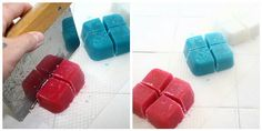 Solid Bath Sugar Cubes Tutorial - I'll be attempting these with chemical-free ingredients.