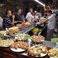 Pintxos bar in San Sebastian (Basque Country- Spain)  Tapas is the Spanish version