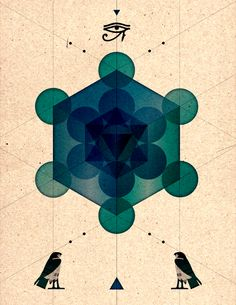 Sacred Geometry.     Far, through strange spaces, have I journeyed  into the depth of the abyss of time,  until in the end all was revealed.  Know ye that mystery is only mystery  when it is knowledge unknown to man.  When ye have plumbed the heart of all mystery,  knowledge and wisdom will surely be thine    <3