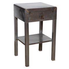Norman Bel Geddes Steel Night Stand | From a unique collection of antique and modern night stands at http://www.1stdibs.com/furniture/tables/night-stands/