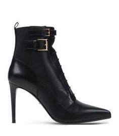 Sergio Rossi: Lace-Up Leather Ankle Boot
