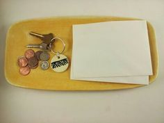 Guale Inspired Key Ring by elizabethpottery on Etsy, $10.00