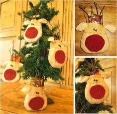 Hey Rudolph! These charming reindeer treat bags/ornaments will put a smile on everyone's face this Christmas. You can give them to your kids, kids teachers, friends, family, or as a party favor so get started on making these great gifts now. This packet includes instructions and patterns on how to make these reindeer treat bags. Download, print and get crafty!