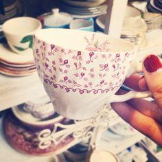 .@laurenconrad_com   antiquing for teacups... should we take this one home?   Webstagram