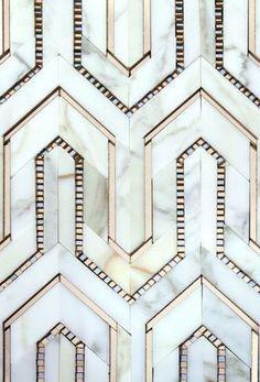 Art Deco floor patterns: