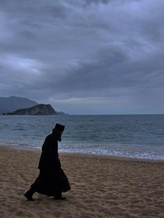 Orthodox Monk, oh how I'd love to talk to him on that beach.