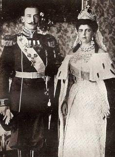 Wedding of Grand Duchess Alexandra Georgievna (born Princess Alexandra of Greece and Danemark) and Grand Duke Paul Alexandrovitch- 1889