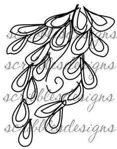 $3.00 Leaf 3 (works wonderfully with Flower 8) Digital Stamp  (http://buyscribblesdesigns.blogspot.ca/2013/05/628-leaf-3-300.html) digital stamps, digis, scribbles designs, garden, flower, leaf, doodles