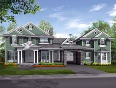 I LOve this floor plan i would add an elevator  and a pool but everything else is lovely  Colonial   House Plan 87596