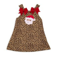 1c89443d1dc Lolly Wolly Doodle — Cheetah A-line Dress